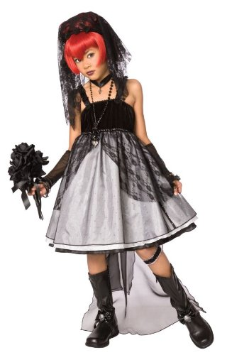 Kids Costumes Bride Of Darkness (Costumes For All Occasions Lf3017Cmd Dark Bride Child Medium)