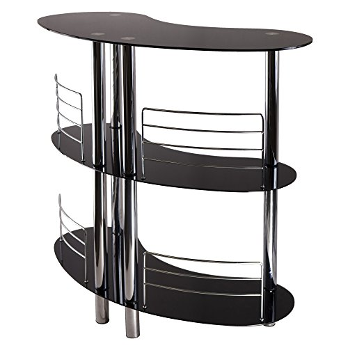 Winsome Martini Wine Storage, Black/Metal