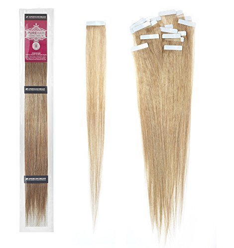 American Dream Pure Hair Tape In Hair Extensions - 100% Premium Remi Human Hair 18