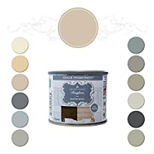 Amitha Verma Chalk Finish Paint, No Prep, One Coat, Fast Drying | DIY Makeover for Cabinets, Furniture & More, 4 Ounce, (Manor Beige)