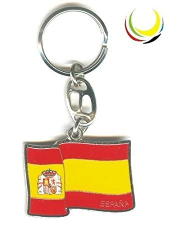 Amazon.com : Keychain -SPAIN FLAG- : Key Tags And Chains ...