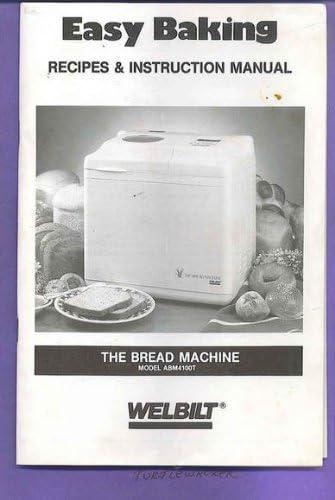 Welbilt ABM4100T Bread Manual Recipes Booklet