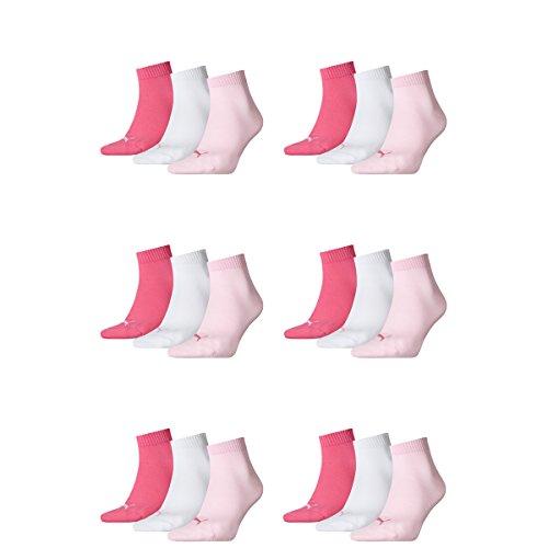 Quarter Puma 18 Lady Ladies Unisex Socks Pair 422 Pink Sneaker amp; Mens qTtx4qrw