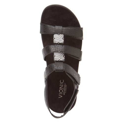 Sandals Amber 44 Vionic Rest Womens Synthetic negro 4q846Xw
