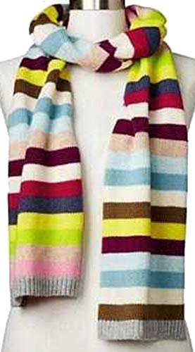 Gap Crazy Multi Stripe Merino Wool Blend Winter Scarf ()