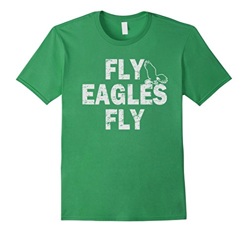 Vintage Fly Eagles Fly Green and White