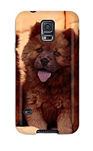 Galaxy S5 Case Cover - Slim Fit Tpu Protector Shock Absorbent Case (chow Chow Dog )
