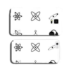 Vector black atom icon set cell phone cover case Samsung S5