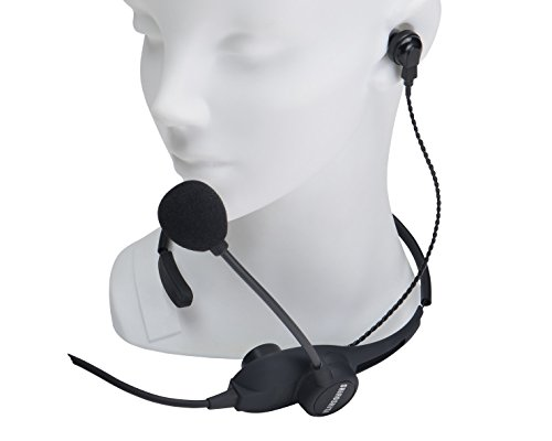 SHiROSHiTA NS-1US Hands-free Neckband Headset with Earphone & PTT for Transceivers (2pin Icom, etc.) by SHiROSHiTA