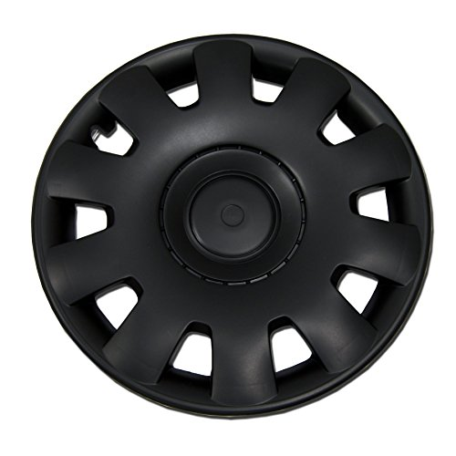 TuningPros WC-15-2032-B 15-Inches Pop On Type Improved Hubcaps Wheel Skin Cover Matte Black Set of 4