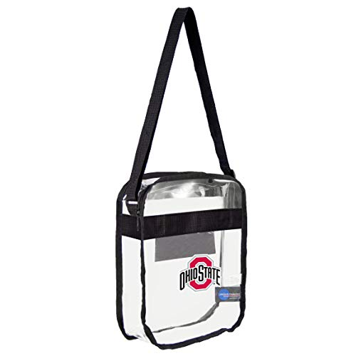 (NCAA Ohio State Buckeyes Clear Carryall Crossbody Purse )