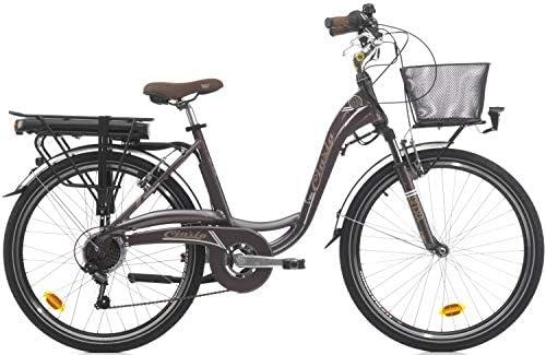 Bicicleta eléctrica para Mujer Cinzia Sfera de 26 Pulgadas, Mujer ...