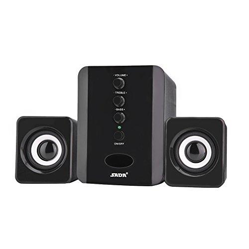 USB Mini Subwoofer, HD Stereo Geluid Computer Audio Desktop Bass Muziekspeler Houshold Bedrade luidspreker voor telefoon…