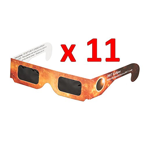 Price comparison product image Solar Eclipse Glass, Hmlai 2017 New Galaxy Edition CE and ISO Eclipse Shades Viewer and Filters, Safe Solar Viewing, Viewer and Filter, Eye Protection (11 Pack)