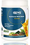 OZiva Nutritional Meal Shake, Men, High Protein Meal Replacement with Ayurvedic Herbs (Mango,17 Servings)