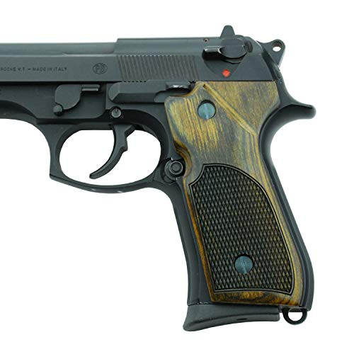 - Altamont Beretta 92FS Grips - Wood Grips for Beretta 92, 92F, 92FS, M9, INOX, Brigadier, Centurion, Elite and Other Models - Made in USA - Walnut