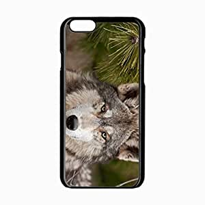 iPhone 6 Black Hardshell Case 4.7inch wolf fur snout Desin Images Protector Back Cover
