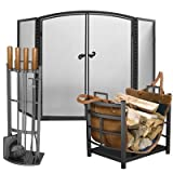 Panacea Mission Fireplace Collection, Black
