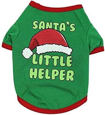 Cheniess Animales domésticos Camiseta de Navidad for la Camisa de Navidad Perros de Perrito Navidad del Perro Mascota Vestuario Camisetas for Perros Invierno cálido (Size : S): Amazon.es: Hogar