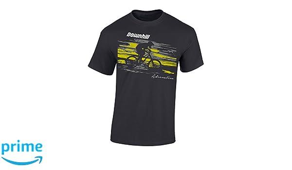 Downhill Regalo para Ciclistas Ciclista Retro Regalos Deporte BTT Camisetas Divertida-s Camiseta de Bicileta: One Engine Mountain-Bike Bici Fixie-Bike Shirt MTB BMX
