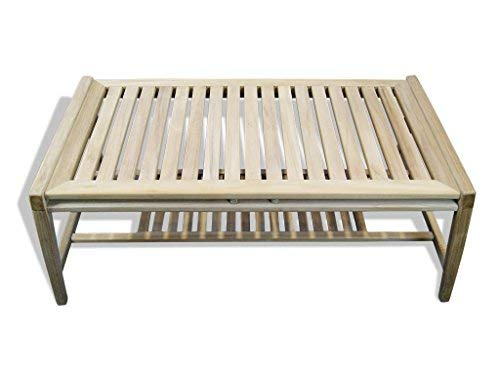 Tinggal Kaffeetisch Cameo Teak Holz Gartenmöbel Gartentisch Lounge Tisch Massiv DI2930