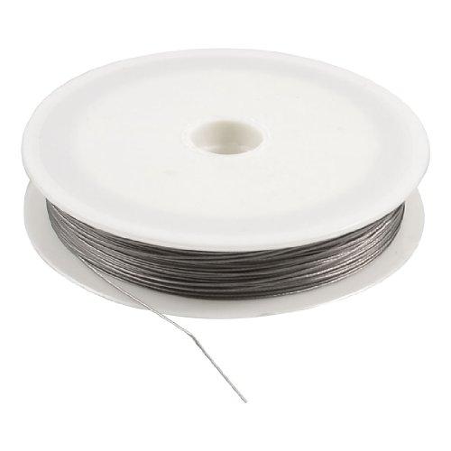 0.45mm Diameter 20m Long Gray Steel String Fishing Line Spool