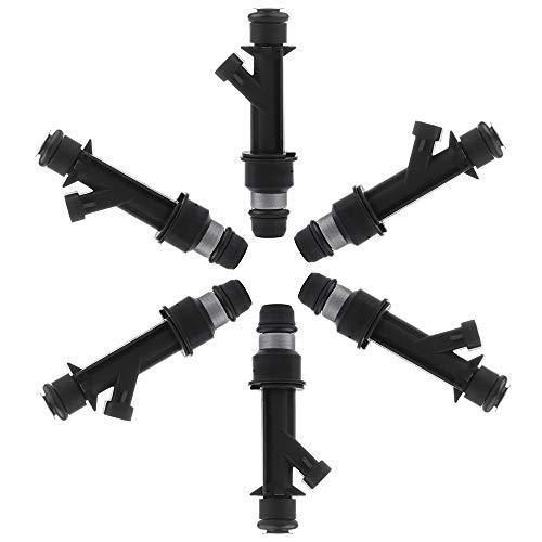 OCPTY Fuel Injector, 6pcs 4 Holes Replacement Fuel Injectors Engine Part fit for Acura SLX,Isuzu Amigo Trooper VehiCROSS Rodeo,Honda Passport 3.2L V6 Compatible 25166922 ()