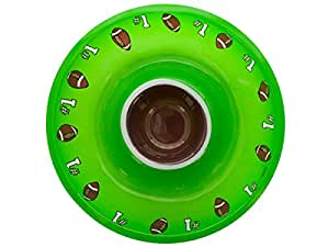 """Creative Converting Round 12.5"""" Diameter Plastic Chip and Dip Tray, Football"""