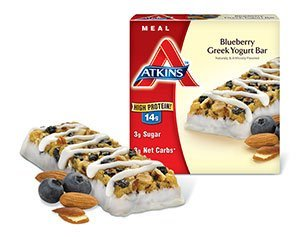 (Atkins Blueberry Greek Yogurt Bar 5 Ct Pack of 1)