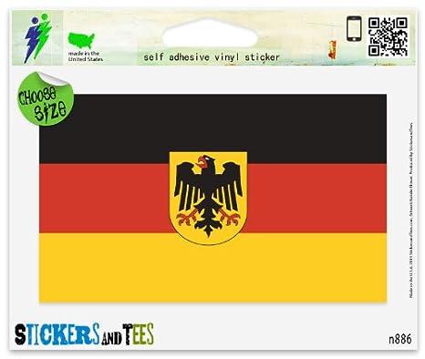 Amazon.com: Alemania Bandera alemana Car Vinilo Car Bumper ...