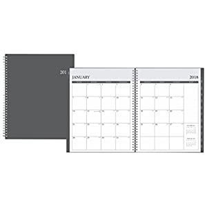 "Blue Sky 2018 Weekly & Monthly Planner, Twin-Wire Binding, 8.5"" x 11"", Enterprise"