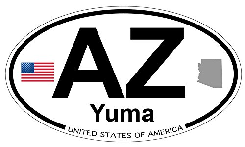 Yuma, Arizona Oval Sticker - Yuma Sun Arizona Yuma