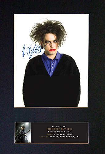 #708 Robert Smith The Cure Signed Autograph Mounted Photo Reproduction Print A4 Rare Perfect Birthday (297 x 210mm) (Not Framed) ()