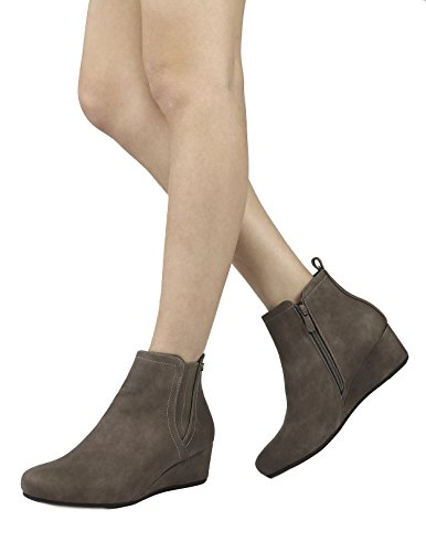 Boots Low Zoie Women's Khaki New Wedge Ankle PAIRS DREAM xUPw00