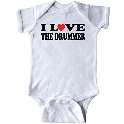 (inktastic - I Love The Drummer Infant Creeper 6 Months White)