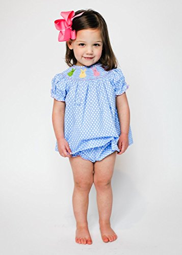 This and That For Kids Girl's Smocked colorful Bunnies Bloomer (Smocked Bloomer Set)