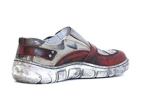 Kacper Mujeres Zapatos llanos rojo, (rot-kombi) 2-1168 311 rot-kombi