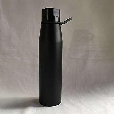 Znzbzt grand double en acier inoxydable sport bouteille d'eau tasse isolée, noir