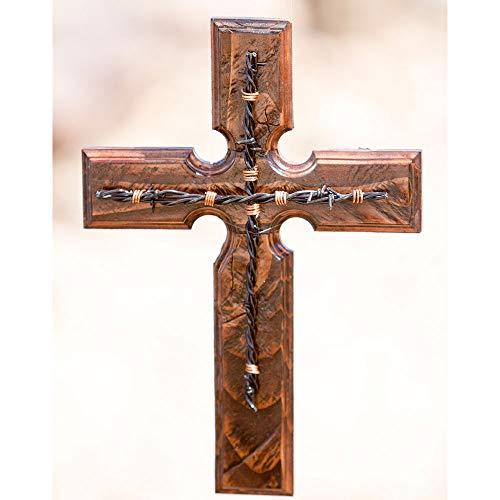 Clr Wood Finish - Wooden Cross-Tucson Cross (Dark Wood Finish w/Silver Metallic Nail)
