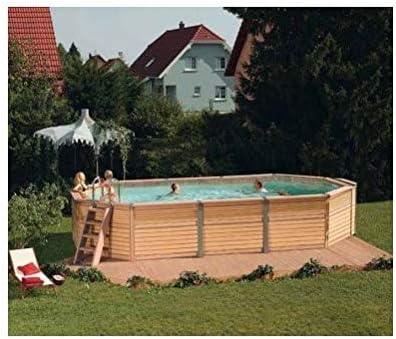 Zodiac Azteck maxiwood ovalada de madera piscina 4 m x 7,2 m ...
