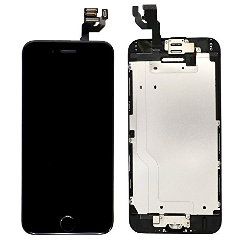 Nroech LCD Screen Replacement for iPhone 6 (Black) with Home Button, Full Assembly with Front Camera, Ear Speaker and Light/Proximity sensor, Repair Tools and Free Screen Protector Included. by Nroech (Image #3)