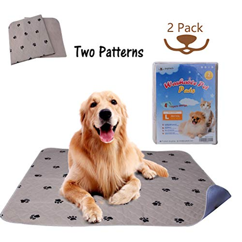 "PUPTECK 2 Pack Reusable Dog Pee Pads – Waterproof and Washable for Your Pet Training Housebreaking- Size Large:36"" x 41"" Review"