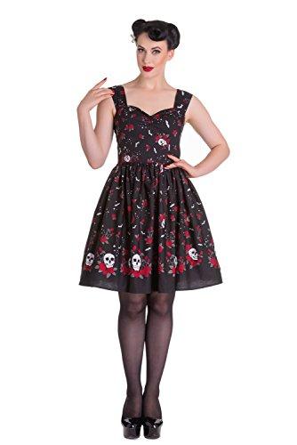 Hell-Bunny-Aconite-Skull-Love-Roses-Bat-Dress