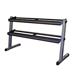 Body Solid GDR60 2 Tier Horizontal Dumbbell Rack