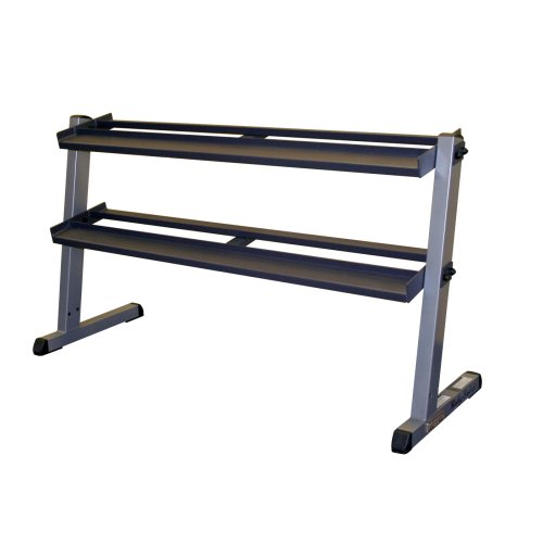 Body Solid GDR60 2 Tier Horizontal Dumbbell Rack by Body-Solid
