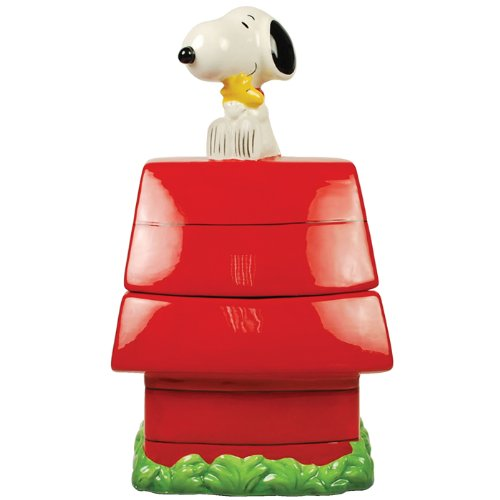 Westland Giftware Peanuts Snoopy's Doghouse 11-1/2-Inch Cookie Jar