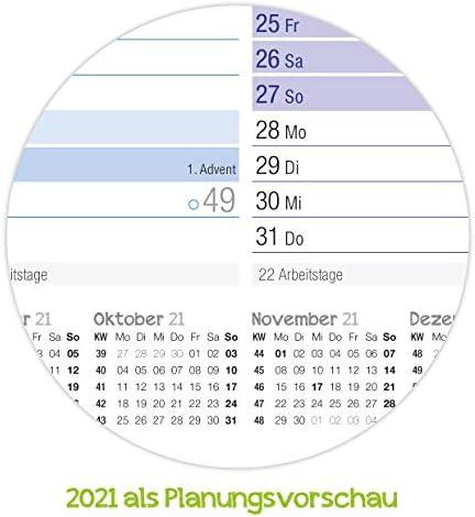 Premium Tafelkelander 2020 A4 quer [Rainbow] - Jahresplaner, Wandkalender, Jahreskalender inkl. kleine Übersicht Folgejahr, Feiertage & Ferienübersicht