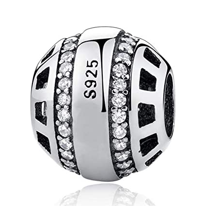 6ed076d09 Image Unavailable. Image not available for. Color: Ochoos Original 925  Sterling Silver Bead Charm Full ...