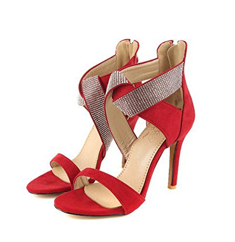Sandali dorati con punta aperta con allacciatura elasticizzata per donna 8Vvf8Azj64