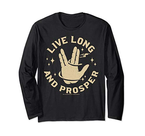 Star Trek Live Long And Prosper Enterprise Long Sleeve